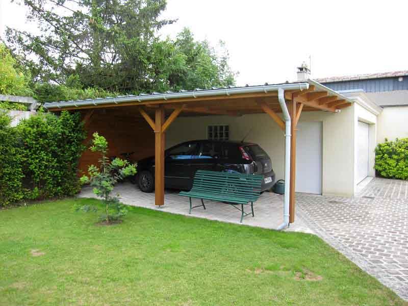 Carport en bois Charpentier Moro et Fils Andilly Val d'Oise 95